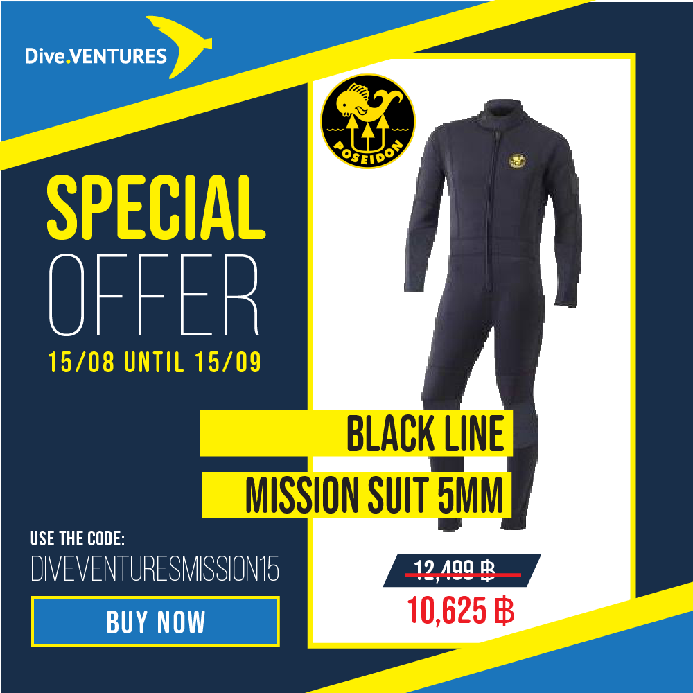 Poseidon Black Line Mission Suit Promo | Dive.VENTURES