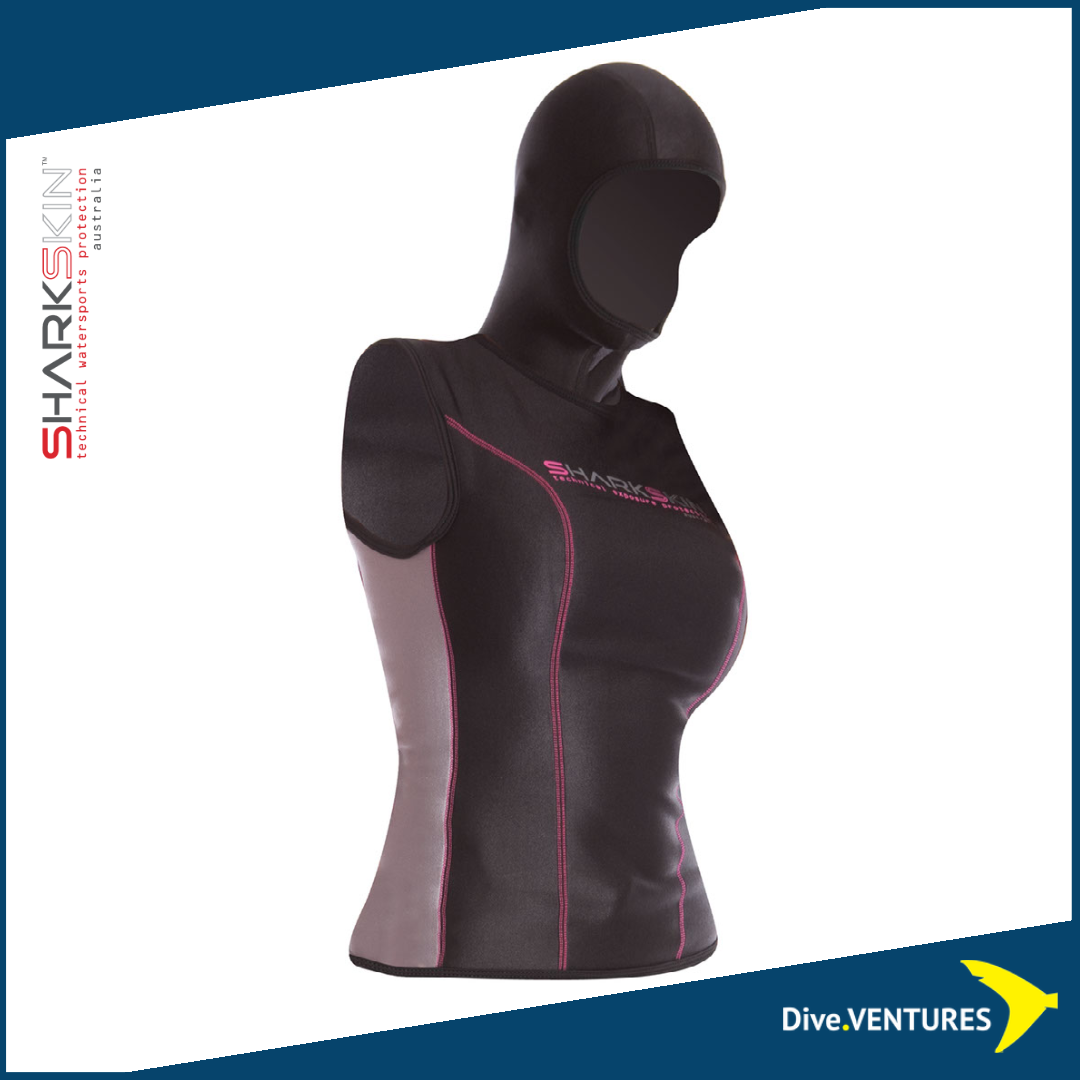 Sharkskin Chillproof Vest With Hood Female | Dive.VENTURES