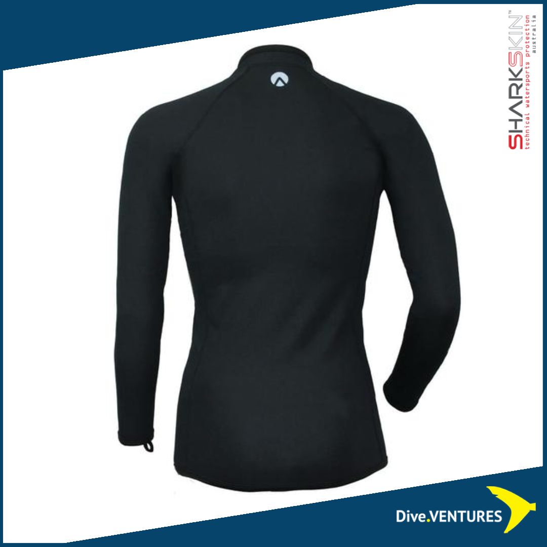 Sharkskin Titanium Chillproof Long Sleeve Full Zip Male  | Dive.VENTURES