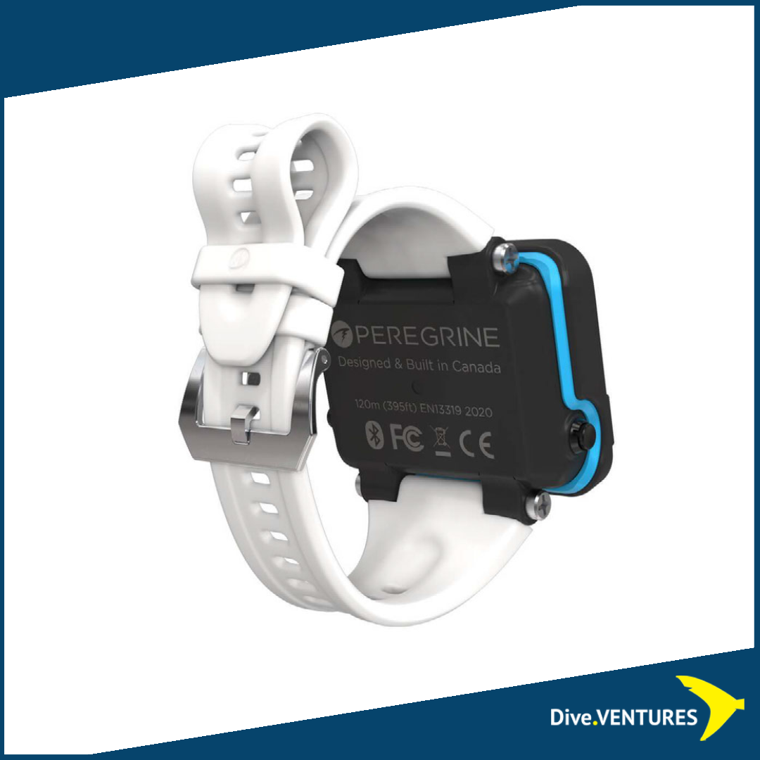 Shearwater_Peregrine White Strap | Dive.VENTURES