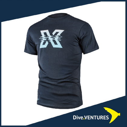 XDeep T-shirt Wavy X | Dive.VENTURES