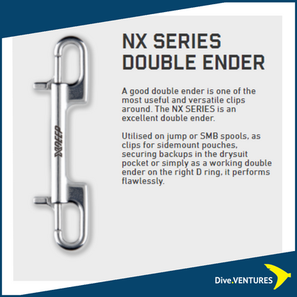 XDEEP NX Series Double Ended Bolt Snap | Dive.VENTURES