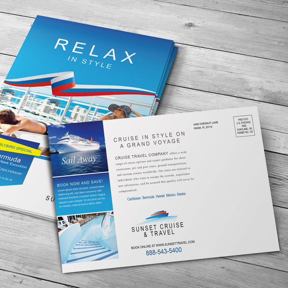 PrintSource360 offers several postcard sizes and distribution options to suit all of your business marketing needs.