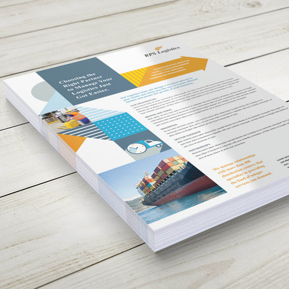 PrintSource360 provides high-quality sell sheets that you need to impress your customers.
