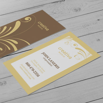 Business Card - 14pt. Natural Smooth Cover, Uncoated