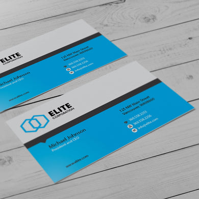 Business Card - 16pt. Matte Cover, Satin Aqueous Coating