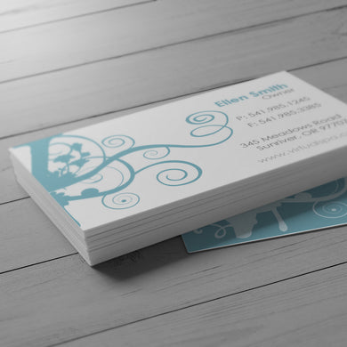 Business Card - 16pt. Suede Cover with Soft Touch Velvet Coating