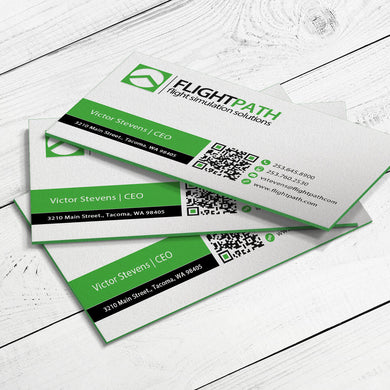 Business Card - 24pt. Triplex Ultra Cover with Green Center Layer, Velvet Finish
