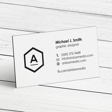 Business Card - 32pt. Triplex Ultra Cover with Black Center Layer, Velvet Finish