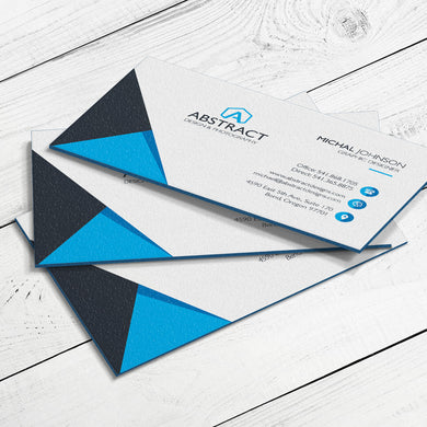 Business Card - 32pt. Triplex Ultra Cover with Blue Center Layer, Velvet Finish