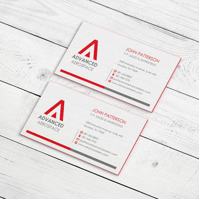 Business Card - 32pt. Triplex Ultra Cover with Red Center Layer, Velvet Finish