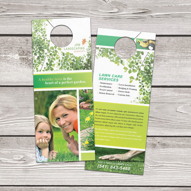 Door Hanger - 14pt. Gloss Cover with High-Gloss UV Coating