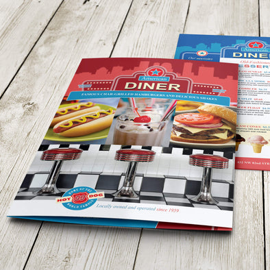 Menu - 100lb. Gloss Book with Gloss Aqueous Coating