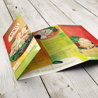 Pocket Menu - 100lb. Gloss Book with Gloss Aqueous Coating