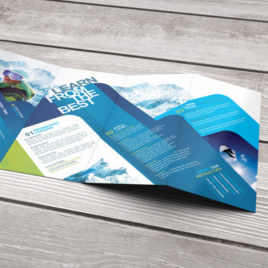 Rack Brochure - 100lb. Gloss Cover with Gloss Aqueous Coating