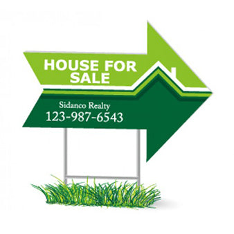 Real Estate Sign - Arrow Shape, 4mm Coroplast (Corrugated Plastic)