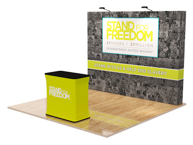 Trade Show Velcro Fabric Display, 10ft. Straight