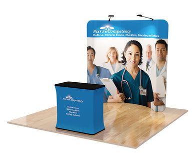 Trade Show Tension Fabric Display, 8ft. Curved