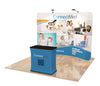 Trade Show Tension Fabric Display, 10ft. Curved