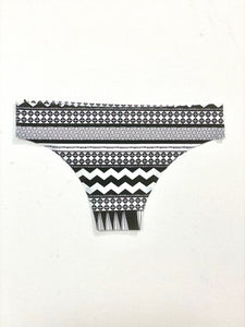 Seamless Brazilian Brief - Tribal B&W