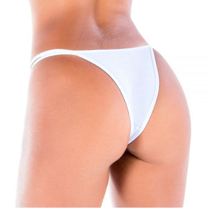 White Tanga - Egyptian Cotton Knickers with strass effect detail