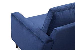 "Sofab Alexandria Series 2-Seat Sofa, Modern Living Room Couch Made with Long Lasting Materials and Sturdy Wood Frame Construction - 73"" W, Indigo Blue"