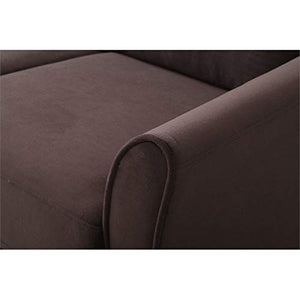 Hawthorne Collections Loveseat in Coffee