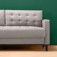 Load image into Gallery viewer, Zinus Benton Mid-Century Upholstered 76 Inch Sofa / Living Room Couch, Stone Grey Weave