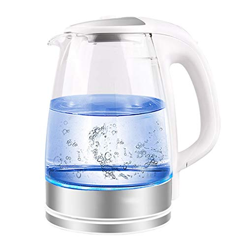 HEMFV Electric Kettle, 1.7L Glass Kettle, Boiled Water Blue Light, Fast Boiling and Cordless Water Kettle with Auto Shut-Off, and Boil-Dry Protection