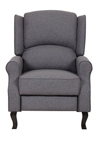 US Pride Furniture Contemporary Linen Fabric Accent Recliner Chair, Dark Grey
