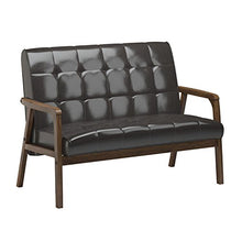 Load image into Gallery viewer, Baxton Studio Mid-Century Masterpieces Love Seat, Brown