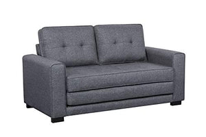 US Pride Furniture S5331 Daisy Modern Fabric Loveseat and Sofa Bed, Dark Grey