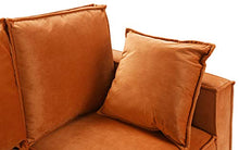 Load image into Gallery viewer, Classic Brush Microfiber Sofa, Small Space Loveseat Couch (Camel)
