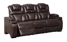 Load image into Gallery viewer, Signature Design by Ashley 7540715 Warnerton Power Reclining Sofa, Chocolate