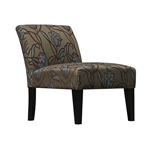 Armless Living Room Slipper Accent Chair, Lotus