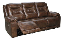 Load image into Gallery viewer, Signature Design by Ashley U5100115 Golstone Power Reclining Sofa, Canyon