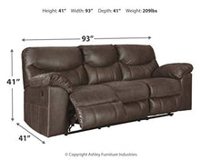 Load image into Gallery viewer, Signature Design by Ashley 3380388 Boxberg Reclining Sofa, Teak