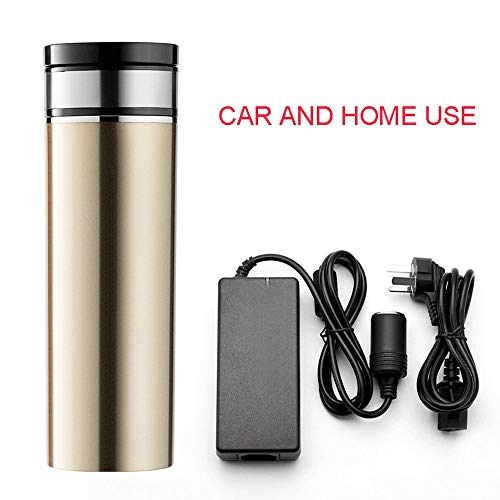 TERMALY Travel car Heating Cup, Smart Electric hot Water Cup, car Water Heater, Kettle Thermos, 12V24V100 Degrees,C