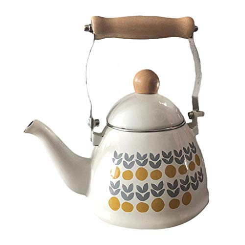DTTX Kettle Nordic 1.4L Enamel Induction Cooker Gas General Family Teapot Porcelain, Pattern, 1.4L