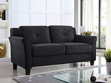 Load image into Gallery viewer, LifeStyle Solutions CCHRFKS2M26BKVA Harrington Loveseat, Black