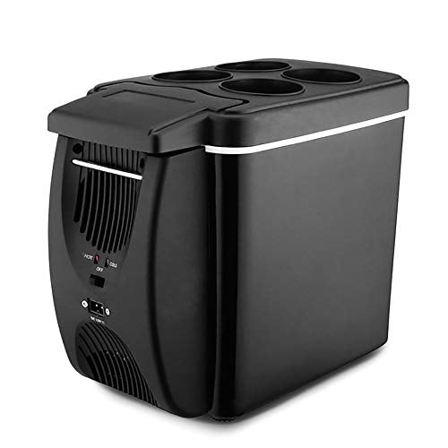 Mini Refrigerator 6L Portable Car Freezer Multi-Function Household Small Freezer Heating and Cooling Function with Cup Holder