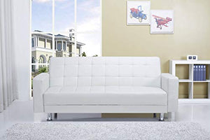 Gold Sparrow ADC-FRA-LOV-PUX-WHI Frankfort Convertible Loveseat, One Size, Whtie