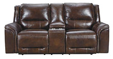Load image into Gallery viewer, Signature Design by Ashley U8300418 Catanzaro Power Reclining Loveseat, Mahogany