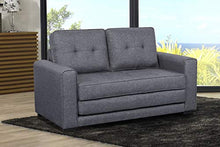 Load image into Gallery viewer, US Pride Furniture S5331 Daisy Modern Fabric Loveseat and Sofa Bed, Dark Grey