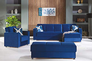 ISTIKBAL Multifunctional Furniture Living Room SECTIONAL Sofa Roma Navy Elegant Collection