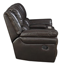 "Load image into Gallery viewer, MorriSofa MNY2460-50-0030-4080 William Reclining Love Seat, 79"" x 39"" x 40.5"", Chocolate"