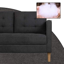 Load image into Gallery viewer, AODAILIHB Modern Soft Cloth Tufted Cushion Loveseat Sofa Small Space Configurable Couch (Dark Grey)
