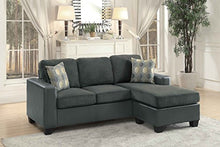 Load image into Gallery viewer, Homelegance Slater Two Tone Reversible Chaise Sofa, Gray