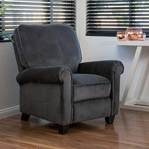 Christopher Knight Home 296598 Kent Recliner Club Chair, Charcoal