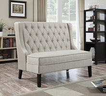 "Load image into Gallery viewer, Pulaski DS-2187-400 Sidney Settees, 52.25"" L x 32.5"" W x 42.0"" H, Oatmeal"